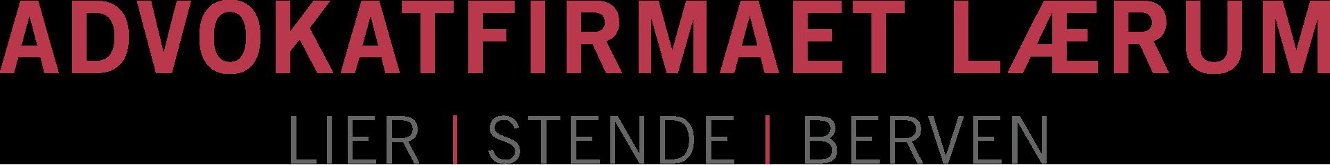 Logo Advokatfirmaet Lærum, Lier, Stende & Berven AS